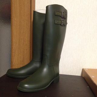 夏冬兼用おしゃれブーツ(カーキ色)(レインブーツ/長靴)