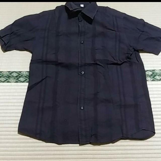 UNIQLO(ユニクロ)のUNIQLO ユニクロ ストラップ柄 半袖シャツ メンズのトップス(シャツ)の商品写真