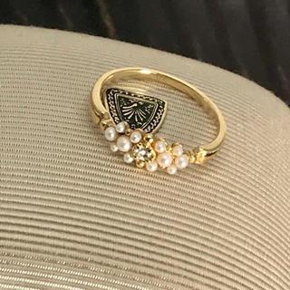 アガット(agete)の碌山 パールダイヤリング(リング(指輪))