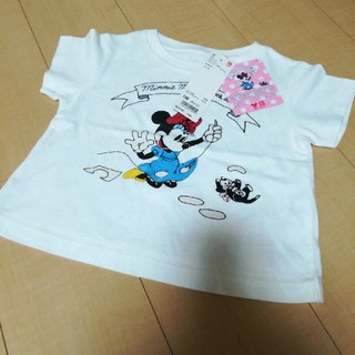 ユニクロ(UNIQLO)の新品 ユニクロ ミニーちゃんTシャツ 100㎝(Tシャツ/カットソー)