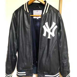 Supreme - supreme Yankees leather jacket