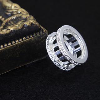 大人気ローマ字リング メンズリング キラキラ これ1つで手元華やか♪(リング(指輪))