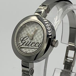 fd9593c86c26 グッチ(Gucci)のGucci YA105 ホワイトGG柄 レディースバングルウォッチ(腕時計)