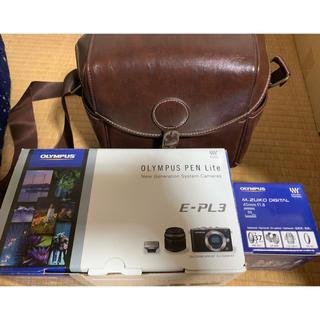 OLYMPUS - 未使用に近い オリンパス PEN Lite E-PL3 単焦点レンズ セット