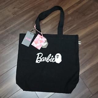 アベイシングエイプ(A BATHING APE)の新品・未使用品!BAPE × Barbie トートバッグ ブラック(トートバッグ)