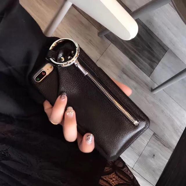 iphone8 バッテリー ケース qi 、 iPhone XR レザーケース エジュー風 ブラックの通販 by iAQ |ラクマ