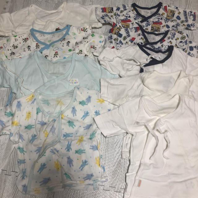 西松屋(ニシマツヤ)の短肌着 ベビー下着 キッズ/ベビー/マタニティのベビー服(~85cm)(肌着/下着)の商品写真