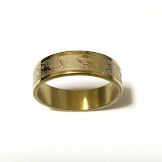 同時購入で300円 ステンレス指輪 サソリ ゴールド(リング(指輪))