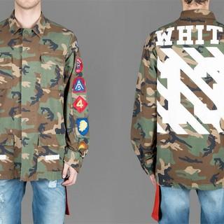 オフホワイト(OFF-WHITE)のOFF-WHITE オフホワイト カモフラバイアスミリタリーフィールドジャケット(ミリタリージャケット)