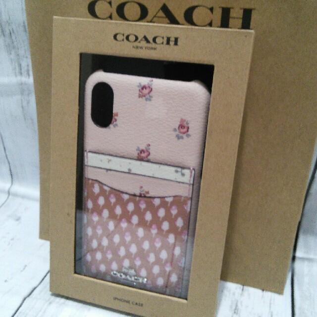 iphone xs ケース 薄 、 kate spade new york - コーチiPhone XR レザーケース【ポケット付き】ピンク花柄の通販 by ショコラ's shop|ケイトスペードニューヨークならラクマ