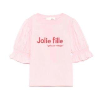 Lily Brown - リリーブラウン 異素材パフスリーブTシャツ