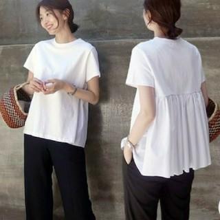 ZARA - 即納!カジュアル プリーツTシャツ ホワイト