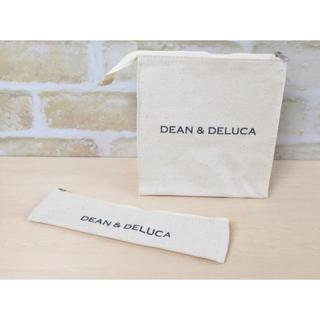 ディーンアンドデルーカ(DEAN & DELUCA)のマリソル18年5月号付録 ディーン&デルーカ ランチバッグ&カトラリーポーチ 白(弁当用品)