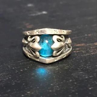 リング 指輪 青 ゴシック ロック シルバー(リング(指輪))