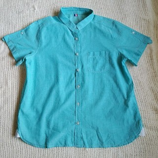 ジーユー(GU)のGU 半袖ブラウス ゆったりサイズ(シャツ/ブラウス(半袖/袖なし))