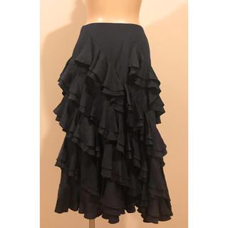 ラルフローレン(Ralph Lauren)のラルフローレン ラッフルスカート(ひざ丈スカート)