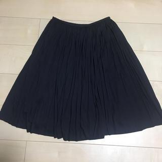 クレージュ(Courreges)のクレージュ プリーツスカート S 黒(ひざ丈スカート)