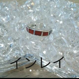 【インレイ天然石リング】美品(リング(指輪))