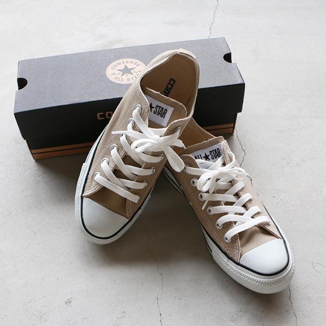CONVERSE(コンバース)の新品タグ付き♡コンバースキャンバスオールスター23センチ☆beige レディースの靴/シューズ(スニーカー)の商品写真