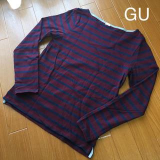 ジーユー(GU)の【 GU * ボートネック  ボーダーTシャツ 】(Tシャツ(長袖/七分))