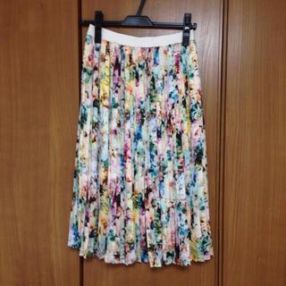 ユナイテッドアローズ(UNITED ARROWS)の花柄×タイダイ柄 スカート  36/S(その他)