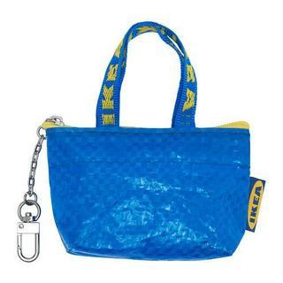 イケア(IKEA)の【新品】◆IKEAイケア◆クノーリグ◆ブルーのショップバッグ型キーホルダー×2個(その他)