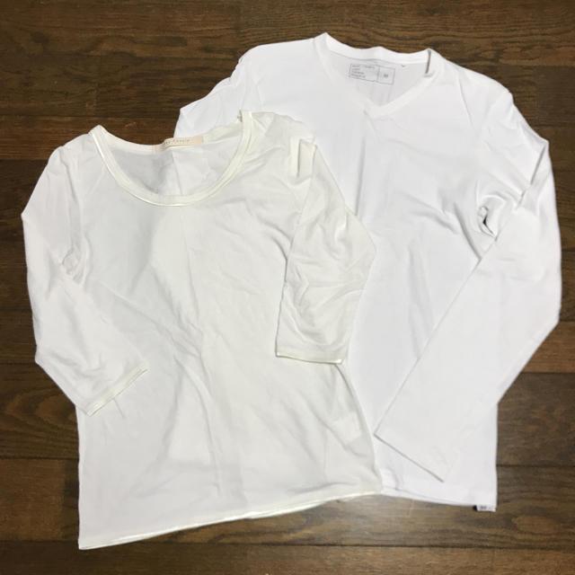 GU(ジーユー)の2枚セット レディースのトップス(Tシャツ(長袖/七分))の商品写真