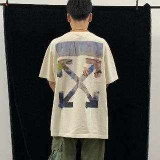 オフホワイト(OFF-WHITE)の2019ss off-white ストライプロゴオーバーサイズTシャツ(Tシャツ/カットソー(半袖/袖なし))
