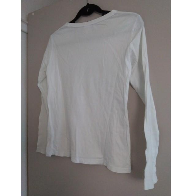 adidas(アディダス)のadidas ホワイトTシャツ  トップス レディースのトップス(Tシャツ(長袖/七分))の商品写真