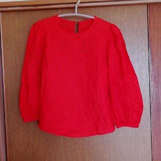 ジーユー(GU)のGU Sサイズ 綿100% ブラウス 七分袖(シャツ/ブラウス(長袖/七分))