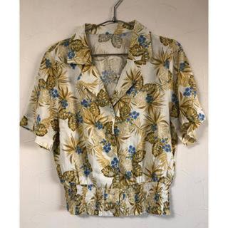 ジーユー(GU)のGU アロハシャツ レディース S(シャツ/ブラウス(半袖/袖なし))