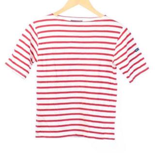 セントジェームス(SAINT JAMES)のSAINT JAMES カットソー Tシャツ   赤ボーダー 五分袖 (Tシャツ(半袖/袖なし))