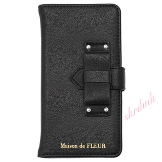 Maison de FLEUR - ♡限定♡メゾンドフルール♡ベルトリボンiPhone7/iPhone8ケース♡黒♡