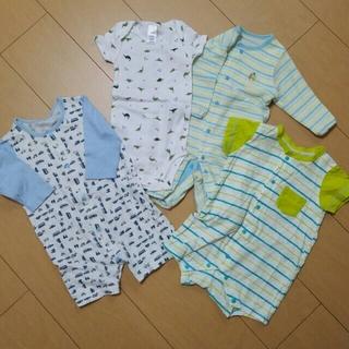 bcfb1dfd2e834 ニシマツヤ(西松屋)の美品含む 新生児ロンパース 4点セット(ロンパース)