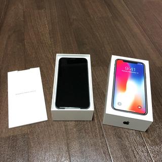 アップル(Apple)の新品交換品 iPHONE X 256GB スペースグレー  SIMフリー (スマートフォン本体)