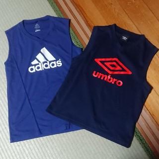 アディダス(adidas)の【美品】インナーシャツ 2枚セット  150 ㎝(ウェア)