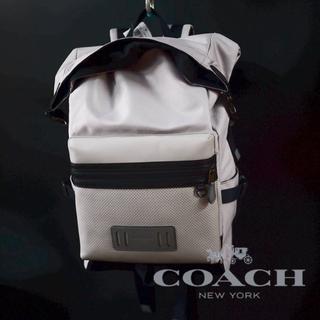d301e2642e8d コーチ(COACH)のコーチ COACH リュック ロールトップ バックパック グレー×ブラック(