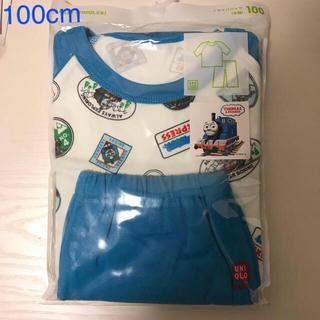 ユニクロ(UNIQLO)の新品未開封☆ ユニクロ きかんしゃトーマス 半袖 パジャマ (100cm)(パジャマ)