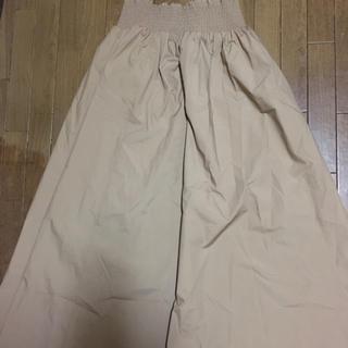 ジーユー(GU)のGUシャーリングフレアロングスカート(ロングスカート)