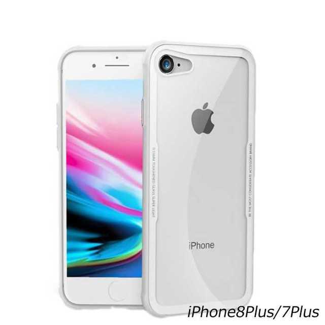 iPhone8Plus/7Plus カバー 背面強化ガラス クリア ケースの通販 by トシ's shop|ラクマ