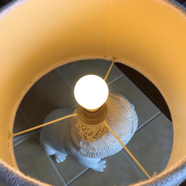 Francfranc(フランフラン)のウォームス テーブルランプ ホワイト インテリア/住まい/日用品のライト/照明/LED(テーブルスタンド)の商品写真