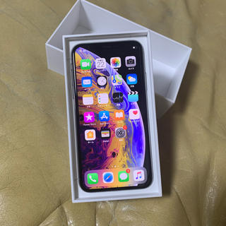 アップル(Apple)のiPhone xs 256 au 新品未使用 シルバー(スマートフォン本体)