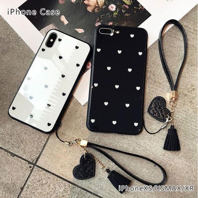 iPhoneケース アイフォン ストラップ付 の通販 by みきゃぼん's shop|ラクマ