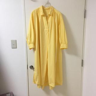 ジーユー(GU)のキティ213様専用 未使用 可愛い黄色のシャツワンピース(ロングワンピース/マキシワンピース)