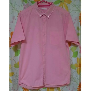 GU - GU メンズシャツ[Mサイズ]2019年流行カラー