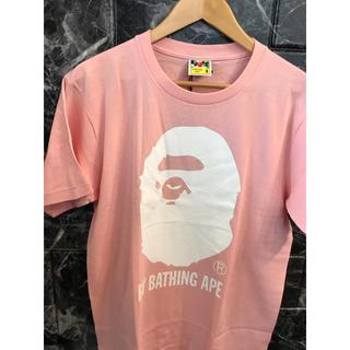 アベイシングエイプ(A BATHING APE)の新品 アベイシングエイプ ABATHING APE BAPE ピンク ビッグ(Tシャツ/カットソー(半袖/袖なし))