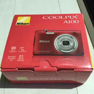 Nikon - ニコン A100 デジカメ COOLPIX レッド 2019年5月8日購入