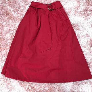 シマムラ(しまむら)のカラースカート(ひざ丈スカート)