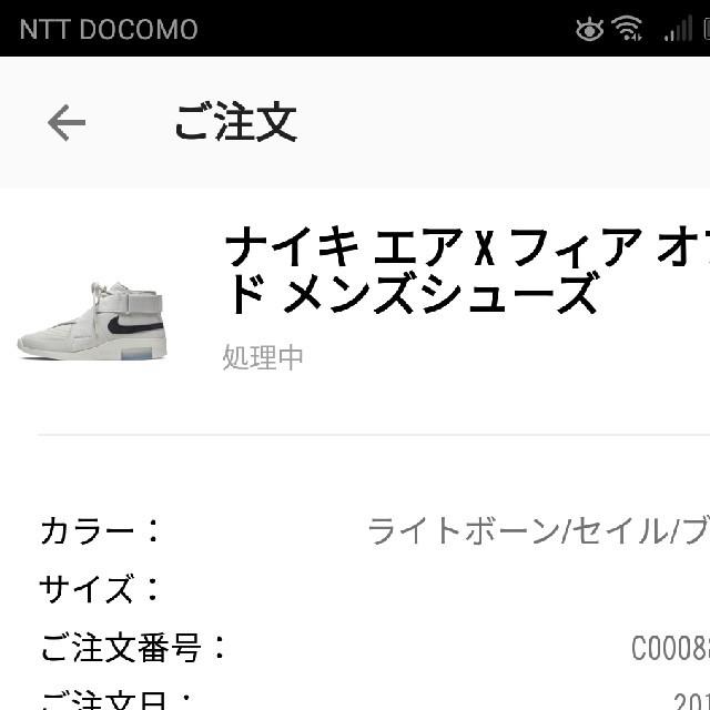 NIKE(ナイキ)のNIKE AIR × FEAR OF GOD 1 RAID 29cm メンズの靴/シューズ(スニーカー)の商品写真