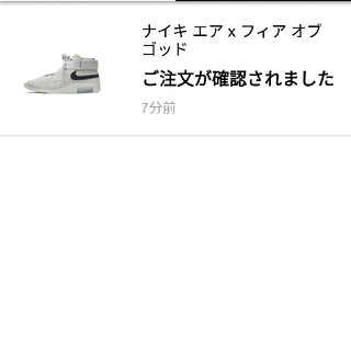 ナイキ(NIKE)のNIKE AIR × FEAR OF GOD 1 RAID 29cm(スニーカー)